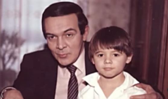 Э. Агаларов в детстве и Муслим Магомаев